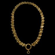 Classic Victorian Rolled Gold Pierced Link Collar Necklace