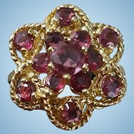 Beautiful Mid Century 14K Yellow Gold Ruby Ring - 5.2 grams