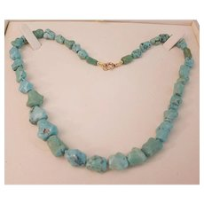 """Beautiful 18"""" Turquoise Nugget Bead Necklace"""
