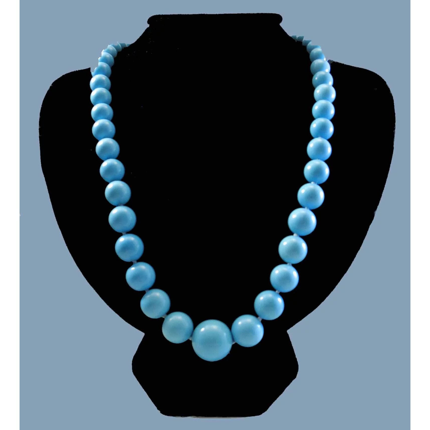 Perfection in Blue 14K Sleeping Beauty Turquoise 9 5-17mm Bead Necklace  23 5