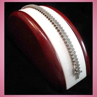 Slinky 14K White Gold Diamond 4.68ct Tennis Line Bracelet - 19.5 grams