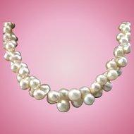 Elegant Twinned Cultured Pearl Choker Necklace