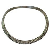 BEAUTIFUL Hallmarked Silver Plated PASTE COLLAR Necklace