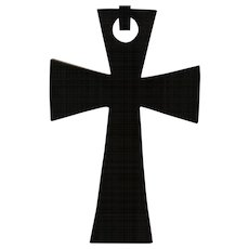 GUTTA PERCHA Large Link Cross Pendant Necklace