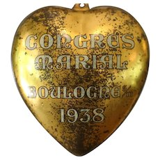 HONEY HEART, FRENCH Congres Marial HEART Ex Voto, Victorian PASTE CHERUB Brooch, Cultured Flameball Pearls, Citrine Gem Artisan Necklace