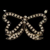 TIE IT WITH a BOW! RARE Victorian PASTE BOW, Cultured Flameball PEARLS, Cultured Kasumi PEARLS Artisan Necklace