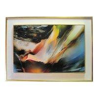 """Mountain Wind"" By Leonardo Nierman Original Oil on Canvas C.O.A."