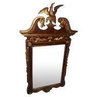 "Late 1700's Eagle Mirror Gold Gilt Design - 58"" Tall"