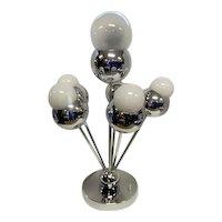 """1960's Chrome Balls Table Lamp -  Torino Sonneman - 19 3/4"""" Tall"""