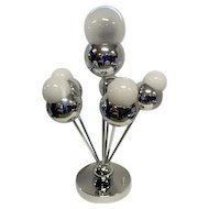 "1960's Chrome Balls Table Lamp -  Torino Sonneman - 19 3/4"" Tall"