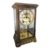 French Crystal Mercury Regulator Pendulum Clock