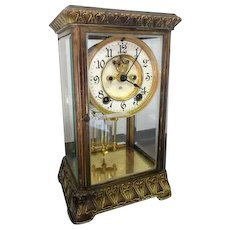 French Crystal Mercury Regulator Pendulum Clock