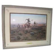 """A Bad One"" by Charles Russell - Prof. Framed & Matted"