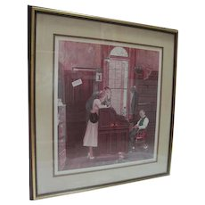 """""""The Marriage Contract"""" by Norman Rockwell - w/COA 1102/2500"""