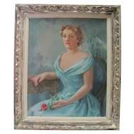 Framed - Portrait Oil on Canvas - by Florence E. Ware
