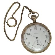 "Lot #909 Waltham 17 Jewels ""Royal"" Pocket Watch w/Watch Fob"