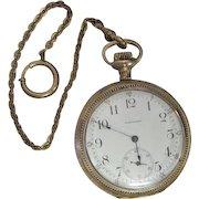 "Lot #909 Waltham 17 Jewels ""Royal"" Pocket Watch w/Watch Fob"
