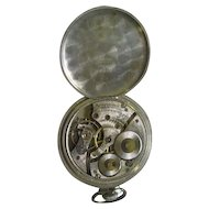 Lot #914 Waltham 17 Jewels Pocket Watch - Nickel Silver