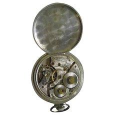 Lot #914 Waltham 17 Jewels Pocket Watch - Nickel Silver