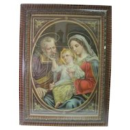 "No. 3055 ""The Holy Family"" Chromolithograph Printed in Germany"