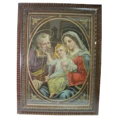 """No. 3055 """"The Holy Family"""" Chromolithograph Printed in Germany"""