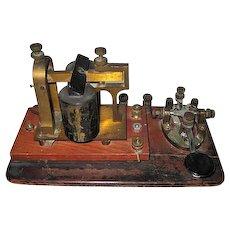 Antique - J.H. Bunnell & Co. Mainline Legless Key Telegraph - No. 30