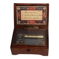 Collectible Swiss 3 Song Box w/Harp Lock - Works Great