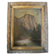 Beautiful Landscape Oil on Canvas - w/Ornate Frame