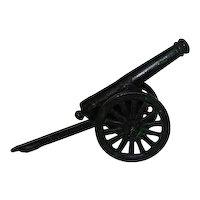 Black Cast Iron Canon - Great Patina