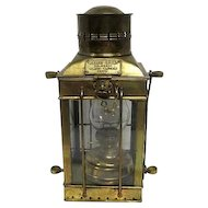 "Cargo Light No. 3954 Great Britain 1939 Lantern - 14 3/4"" Tall"