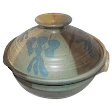 """Creitz Pottery Bowl w/Lid - Multi-Colored - 8 1/2"""" Tall"""