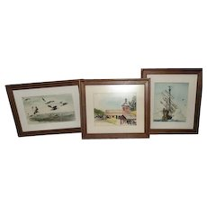 D. Arellano Water Color Collection of (3)