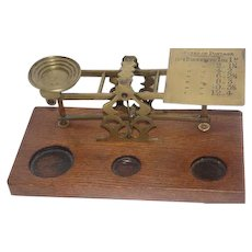 Early 1900's Gold Scale - Made in England