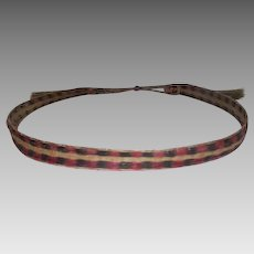 Early 1900's Horse Hair Braided Hat Band - Dyed