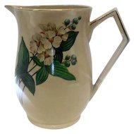 "English Art Deco Style ""Ellgreave"" Pottery Pitcher - 6 1/2"" Tall"