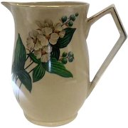 """English Art Deco Style """"Ellgreave"""" Pottery Pitcher - 6 1/2"""" Tall"""