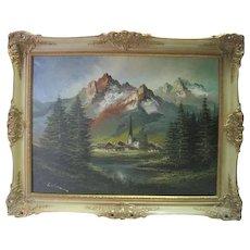 European Landscape - Oil on Canvas - Signed