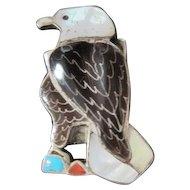 Eva Etsate Zuni Eagle Conch for Bolo