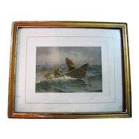 Fisherman Print By A. W. Buhler Copyright A. W. Buhler