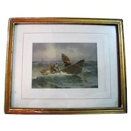 Fisherman Print By A. W. Buhler Copyright A. W. Buhler