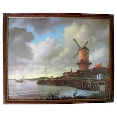 Framed Holland Lithograph #1210 Made in U.S.A.