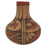"Gachupin Jemez - Fluted Pottery Vase - 4 1/2"" Tall"