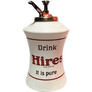 """Hires Root Beer Dispenser with Original Pump - 14"""" Tall"""
