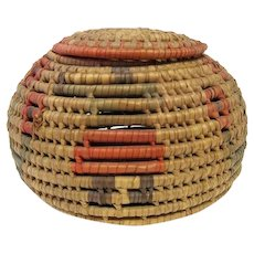 Hopi Coil Basket with Lid