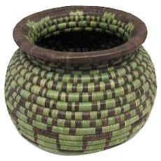 "Hopi Coil Indian Basket - 5"" Tall"