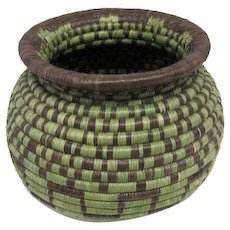 "Hopi Coil Indian Basket - 5"" Tall"
