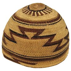 "Hupa Indian Hat - 6"" Tall"