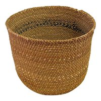 "Indian Basket - Coils Weft Right - 6 1/4"" Tall"