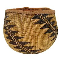 "Klamath Basket Northern California - 6 1/8"" Tall"