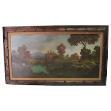 Large Framed German/Italian Landscape - Oil on Canvas